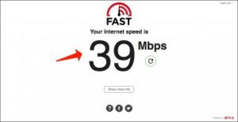 Geschwindigkeitstest von Netflix