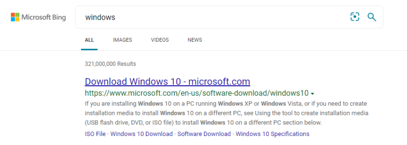 MySearch Search changed the search engine to Bing