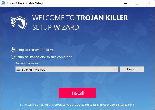 Trojan Killer installation screen