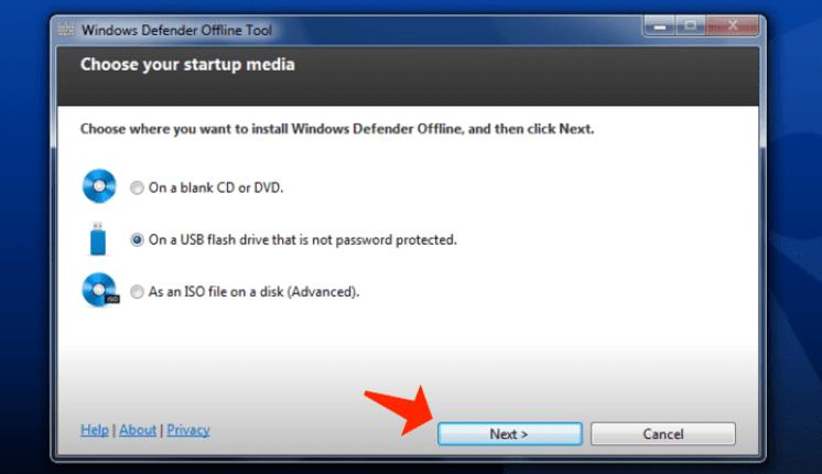 Windows Defender Offline app