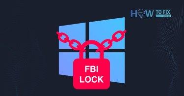 Remove FBI Lock virus