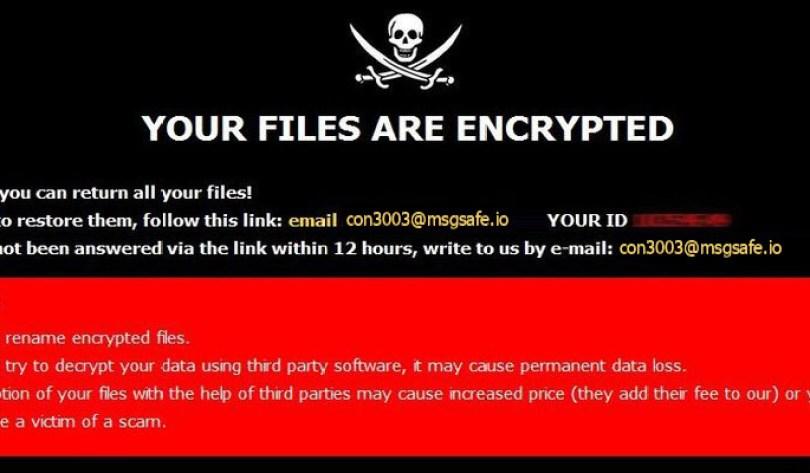 [con3003@msgsafe.io].CON30 virus demanding message in a pop-up window