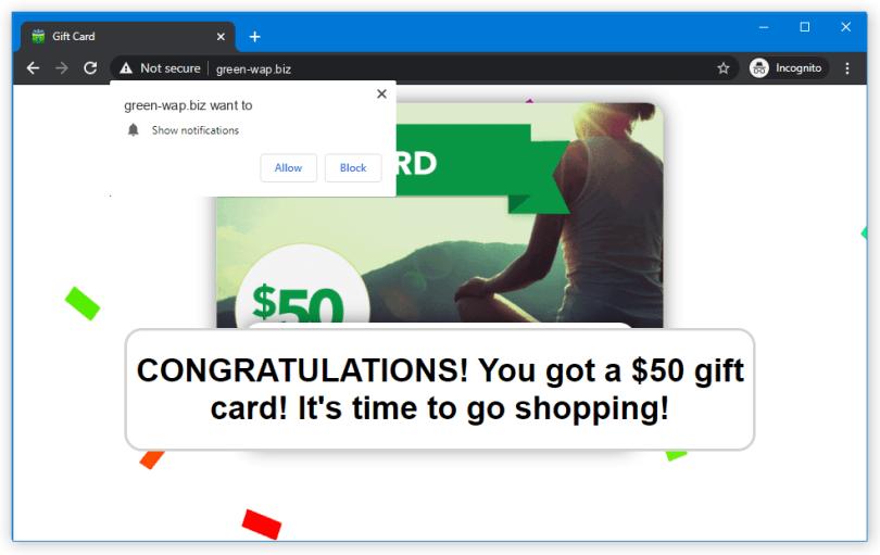 Green-wap.biz push notification