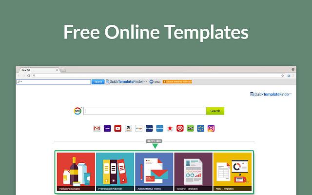 Quick Template Finder hijacker - Quicktemplatefinder.com