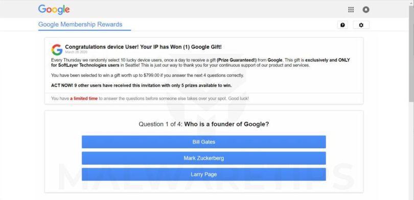 Chrome search contest 2021 scam