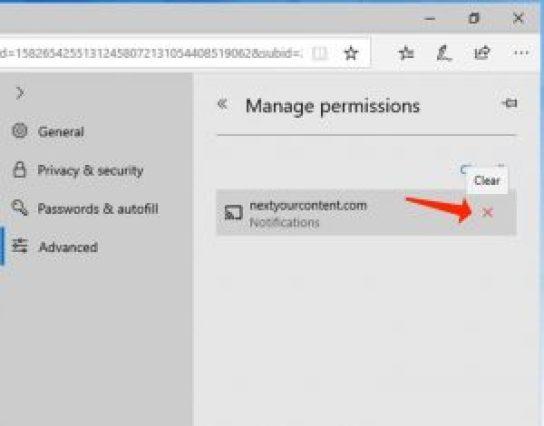 Benachrichtigungen Erlaubnis-auf Microsoft Edge