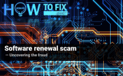 Software renewal scam. Uncovering the fraud
