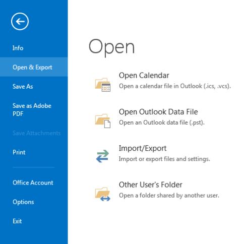 windows file open - outlook