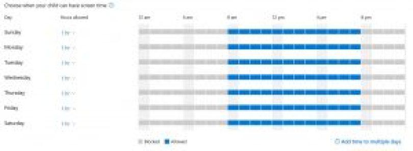 controles parentales - pantalla - tiempo