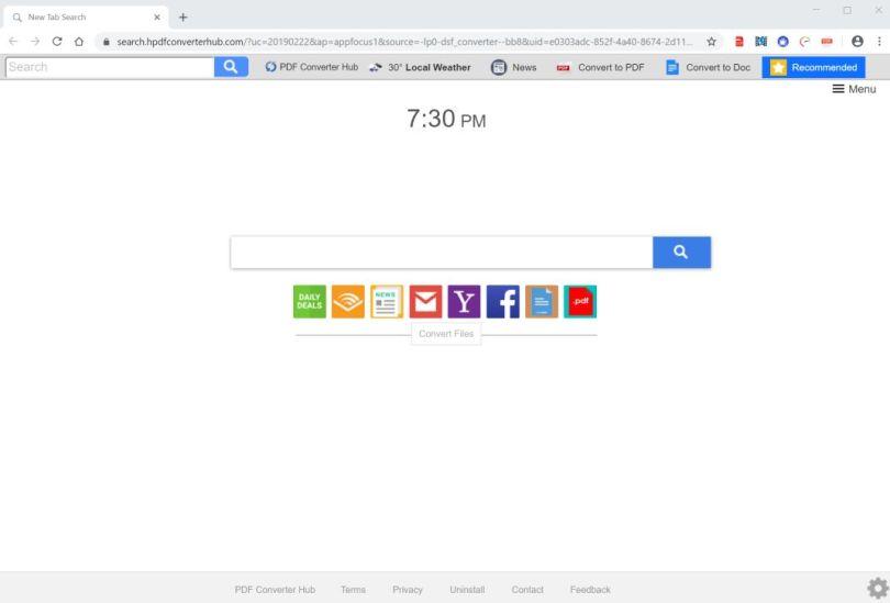 Browser hijacker effects