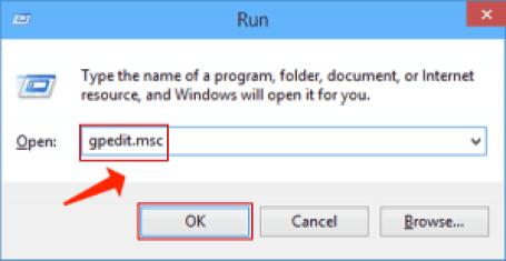 Windowsはコマンドgpedit.mscを実行します