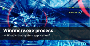 Winrmsrv.exe. What is that strange process?
