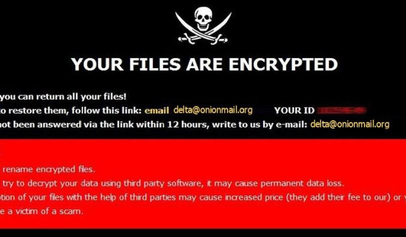[delta@onionmail.org].DELTA virus demanding message in a pop-up window