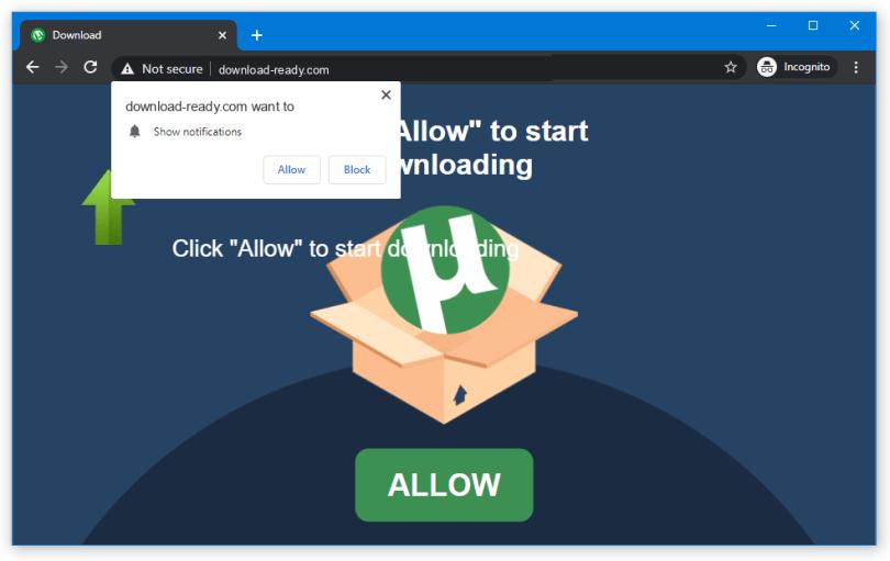 Download-Ready push notification