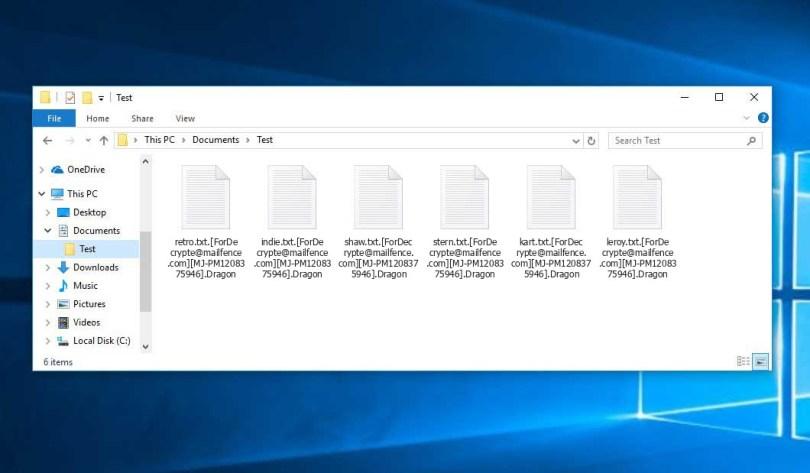 Dragon Virus - encrypted .Dragon files