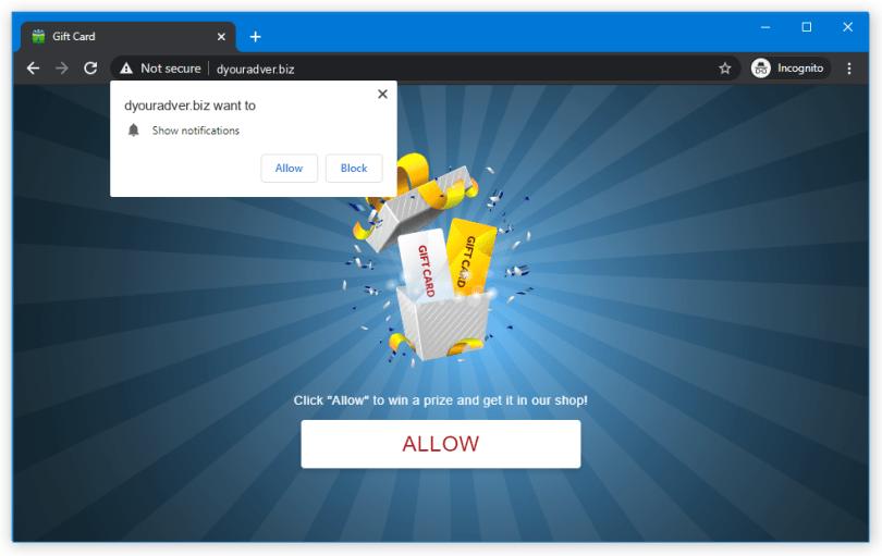 Dyouradver.biz push notification