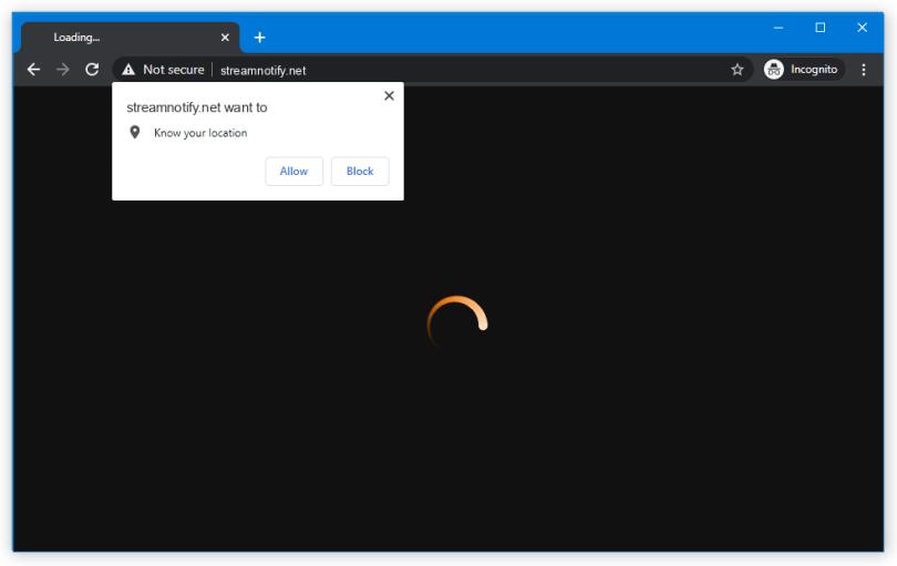 Streamnotify.net push notification