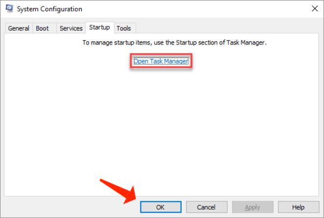 windows - open task manager ok