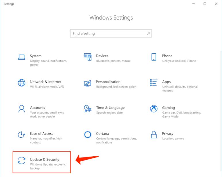 windows 10 - Update Security