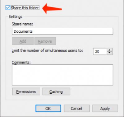 configuración de uso compartido avanzados