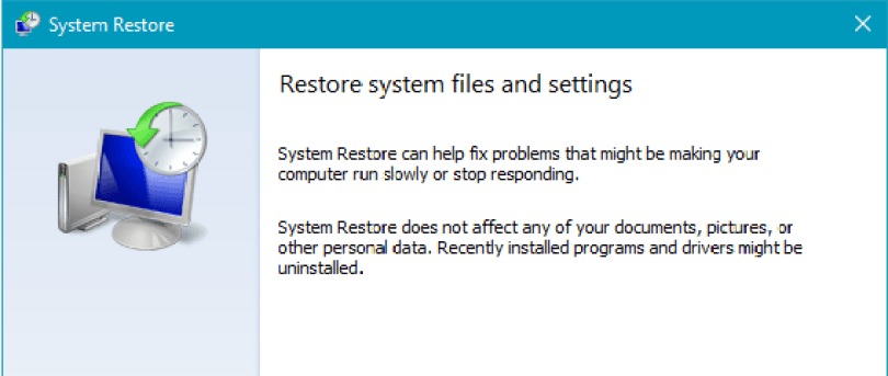 werfault.exe error - restore systems files and settings