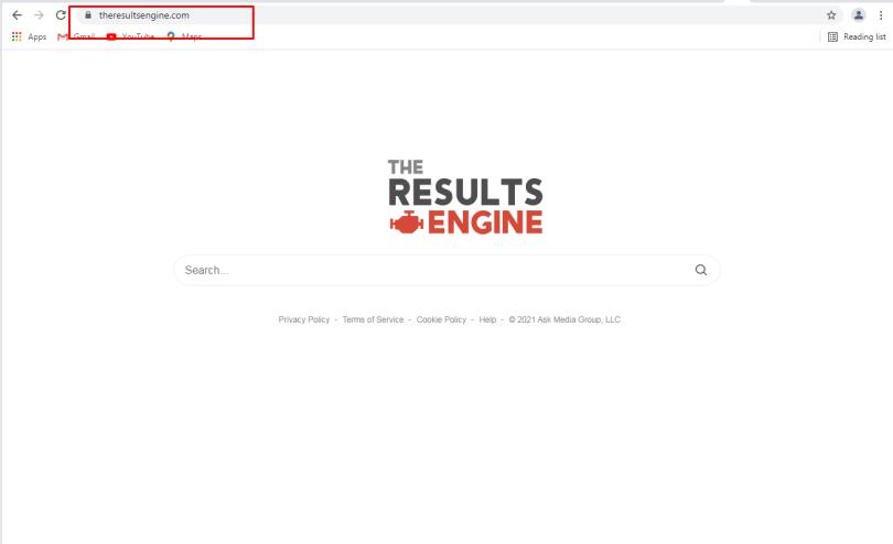 TheResultsEngine hijacker - Theresultsengine.com