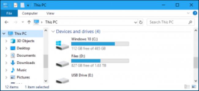 explorador de archivos de Windows 10 - esta PC