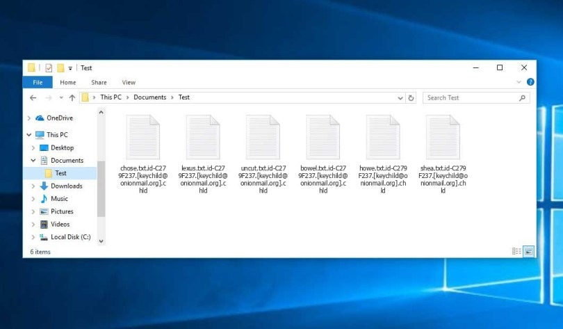 Chld Virus - encrypted .chld files