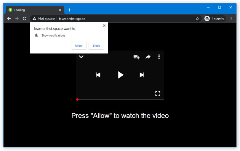 Fewmonthst.space push notification