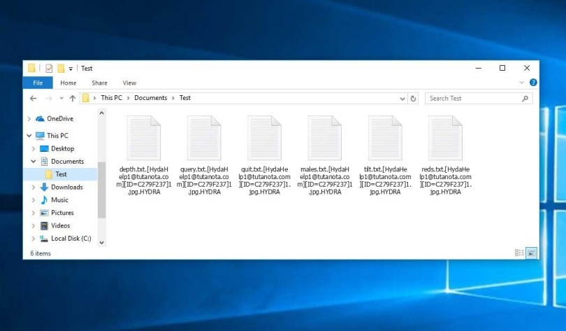 Hydra Virus - encrypted .HYDRA files