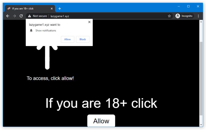 Lazygame push notification