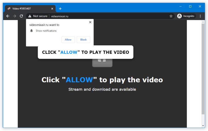 Videomixair.ru push notification