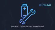 CsEnabledオプションと電源プランの修正