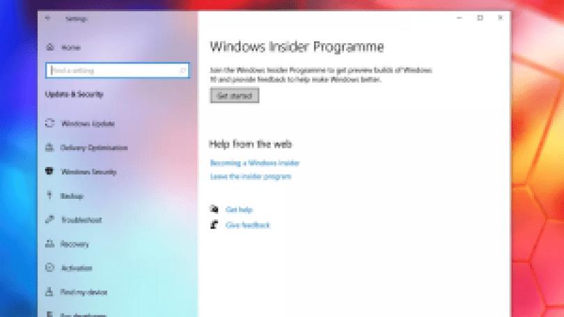 WindowsInsiderプログラム
