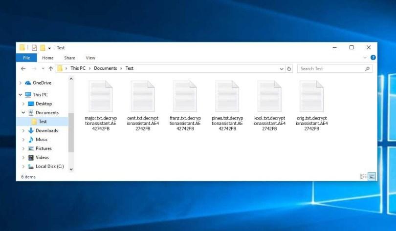 Decryptionassistant Virus - encrypted .decryptionassistant.[victim\'s_ID] files