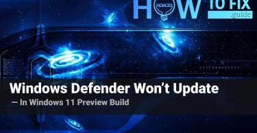 How to Fix Windows 11 Defender Update Issue