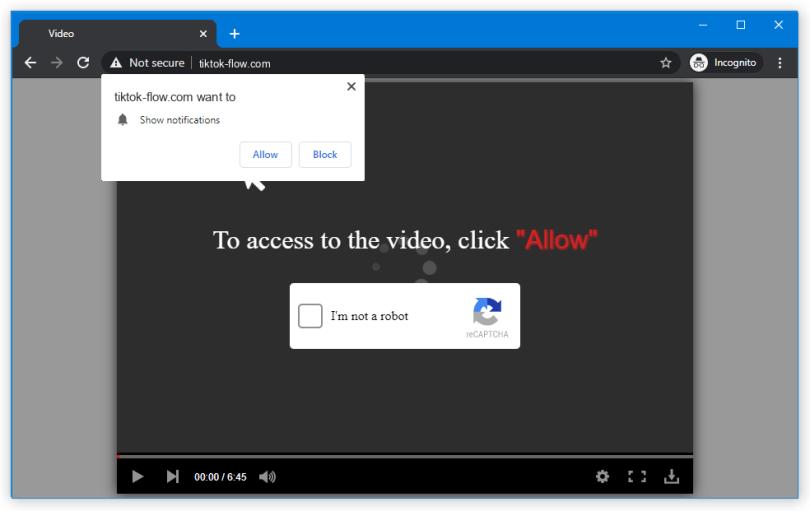 Tiktok-flow push notification