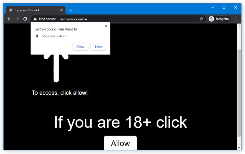 Verifyrobots.online push notification