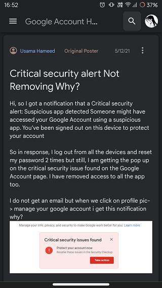critical security alert fake
