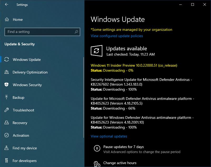 Get Windows 11 through Dev Channel