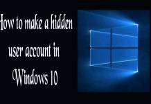 how to make a hidden user account in Windows 10