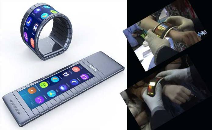 The world's first flexible Smartphone