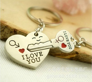 long distance couples keychain