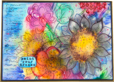 Mixed Flowers Card - Paint Your Dreams