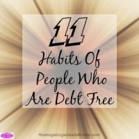 11 Habits Of People Who Are Debt Free