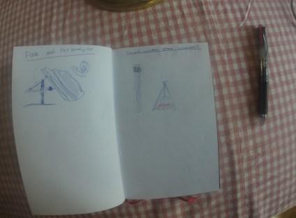 I min utebok hur en tripod kan användas