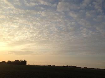 En helt fantastisk solnedgång
