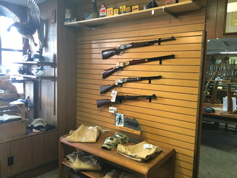 Inside Albright's Gun Shops in Easton, MD