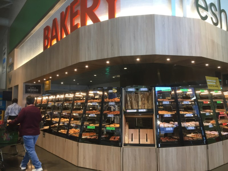 The bakery corner in a Lidl store in the US