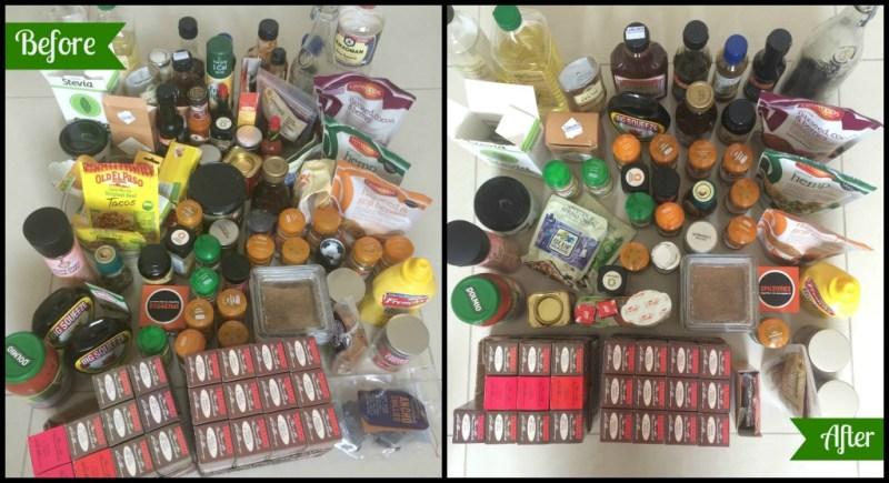 KonMari. Kitchen. Spreads. Seasoning. Spices. Oils. Sauces. Syrups.